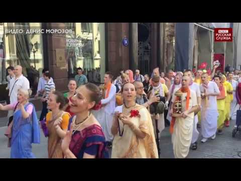 Кришнаиты в Москве празднуют День Победы