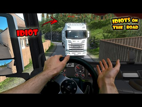 ★ IDIOTS on the road #74 - with REAL Hands | Funny moments - ETS2 Multiplayer