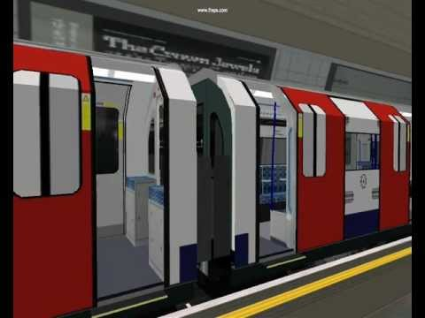 OpenBve Victoria line at Finsbury Park