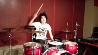Repeat youtube video CROSSFAITH - Mirror 【中学生ドラマーKenT】【叩いてみた】