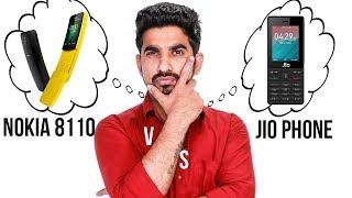 Nokia 8110 vs JIO Phone: Comparison overview [Hindi हिन्दी]