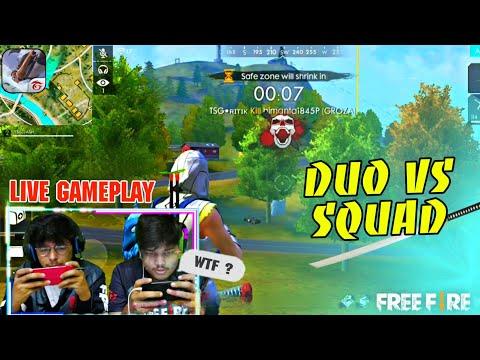 FREE FIRE RANK MATCH || DUO VS SQUAD TSG JASH X TSG RITIK FACE CAM || GAMEPLAY