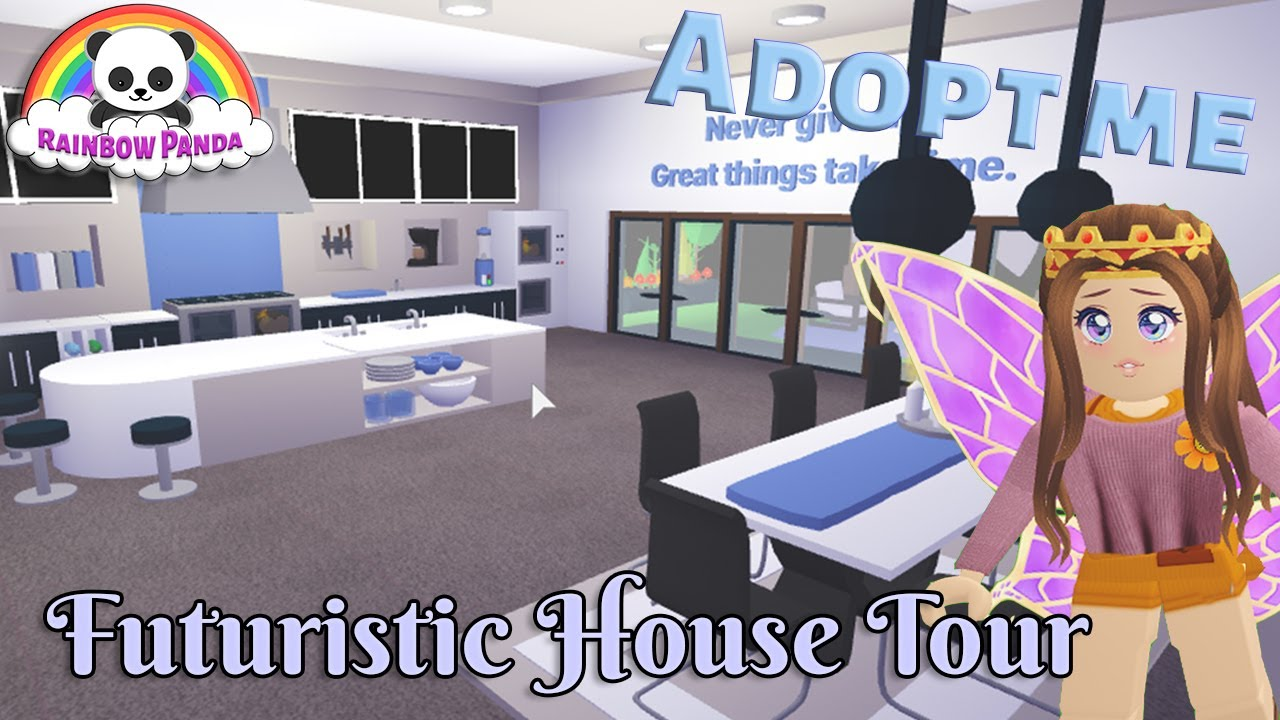 Adopt Me Aesthetic House Tour Futuristic House Youtube