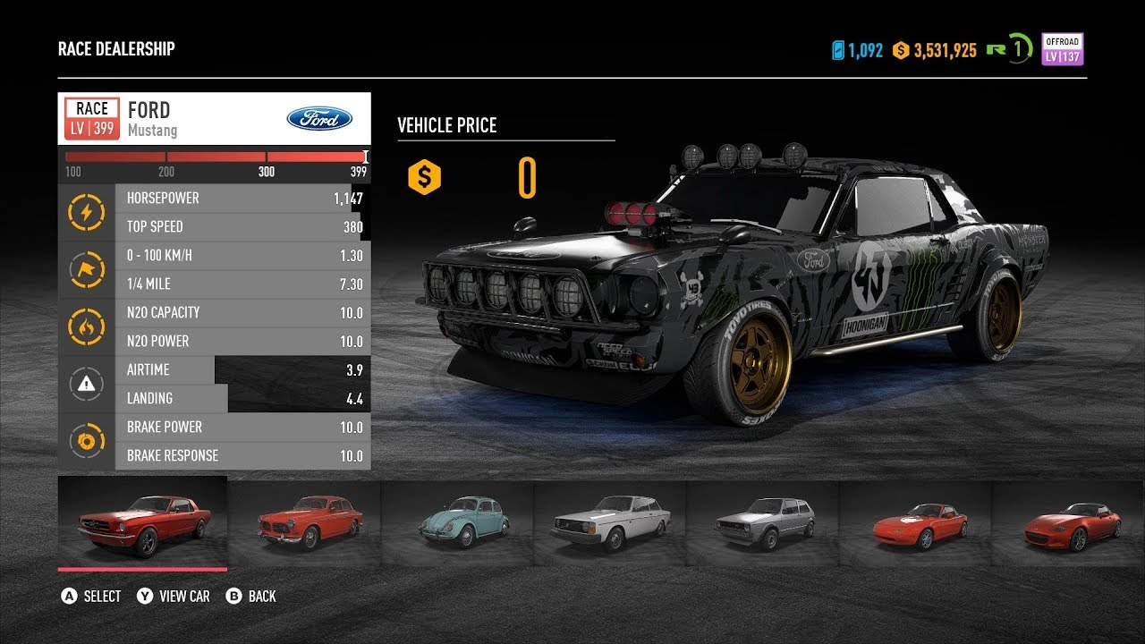 Ford Mustang As Runner Speedlist Nfs Payback By N3t5ky
