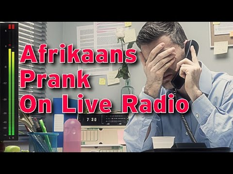 Afrikaans Prank On Live Radio – April Fools Day Prank in Afrikaans op Suid Afrika Radio Stasie