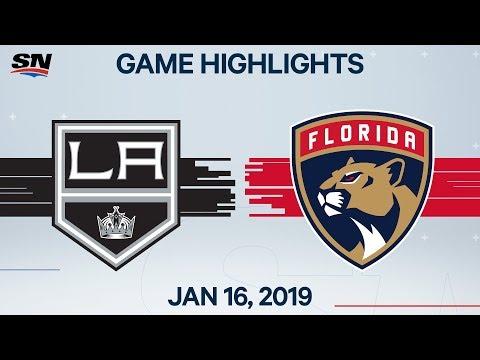 NHL Highlights | Kings vs. Panthers – Jan. 16, 2020