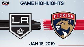 NHL Highlights   Kings vs. Panthers – Jan. 16, 2020