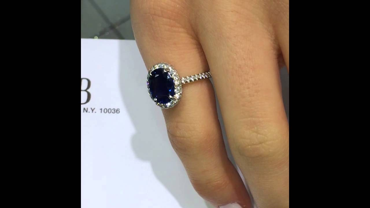 vintage blue sapphire for diamond engagement ring and women carat unique