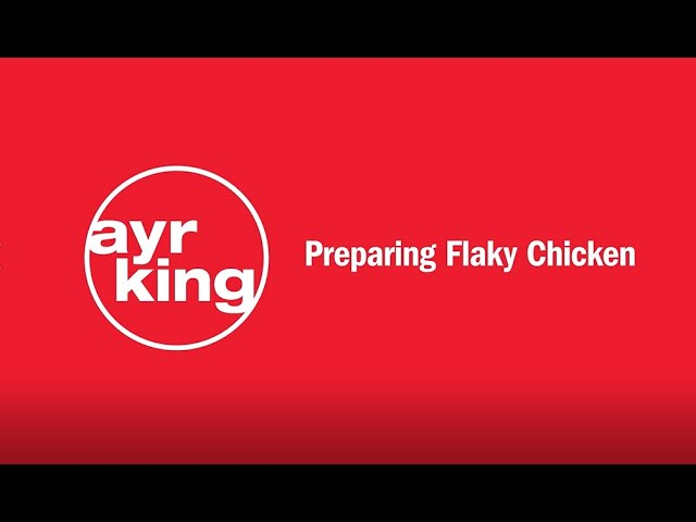FRIED CHICKEN: Flaky