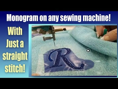 Octi-Hoops - How To Monogram On Towels With Any Sewing Machine