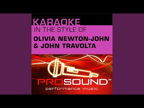 Summer Nights (Karaoke Instrumental Track) (In the style of Olivia Newton John and John Travolta)