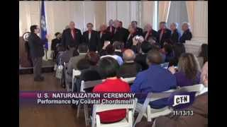 U.S. Naturalization Ceremony for New Citizens at Connecticut