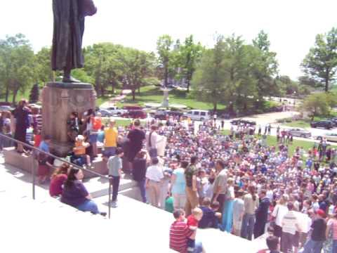 Missouri Homeschool Rally on the Capital Steps