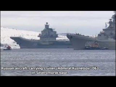 "News Weapons Of War Russian Aircraft ""Admiral Kuznetsov"" 063 Freezes In Severomorsk."