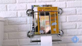 Magazine Rack & Toilet Paper Holder By Organize It All - Bellacor
