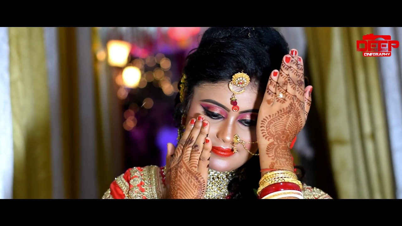 ABHIJIT AND SOMA WEDDING STORY RECEPTION ROMANTIC AND MAKEUP - CAPTURED BY DEEP CINEGRAPHY