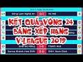 Kết Quả Vòng 24 V-League 2019 | Bảng Xếp Hạng V-League 2019