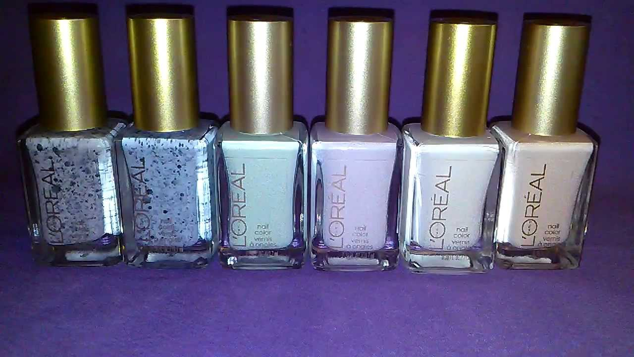 My New L\'Oreal Spring Les Blancs Nail Polish Collection - YouTube