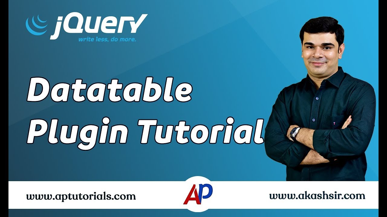 jQuery Datatable Plugin Tutorial | jQuery for Beginners ...