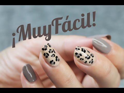 Uñas Animal Print Leopardo Fácil Y Elegante Youtube