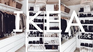 Gambar cover VESTIDOR LOW COST DE IKEA COMPLETO POR MENOS DE 250€  / LOW COST  CLOSET ROOM  2019 / ROOM TOUR