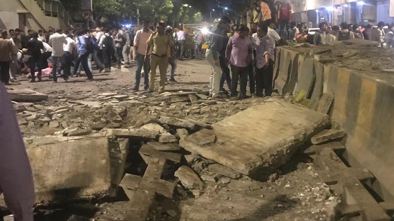 Image result for 6 dead, 33 injured as foot overbridge collapses near Chhatrapati Shivaji Terminus in Mumbai