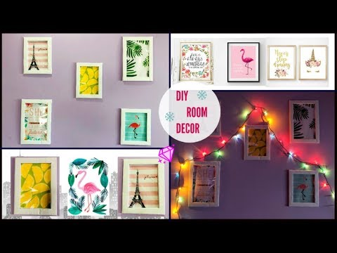 Diy Wall Decor Photo Frames Using Cardboard Affordable Room Idea Youtube
