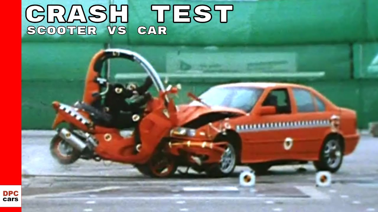 Bmw C1 Scooter With Roof Vs Car Crash Test Youtube