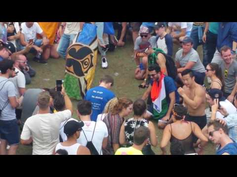 Nathan's crazy dance moves at Tomorrowland 2017