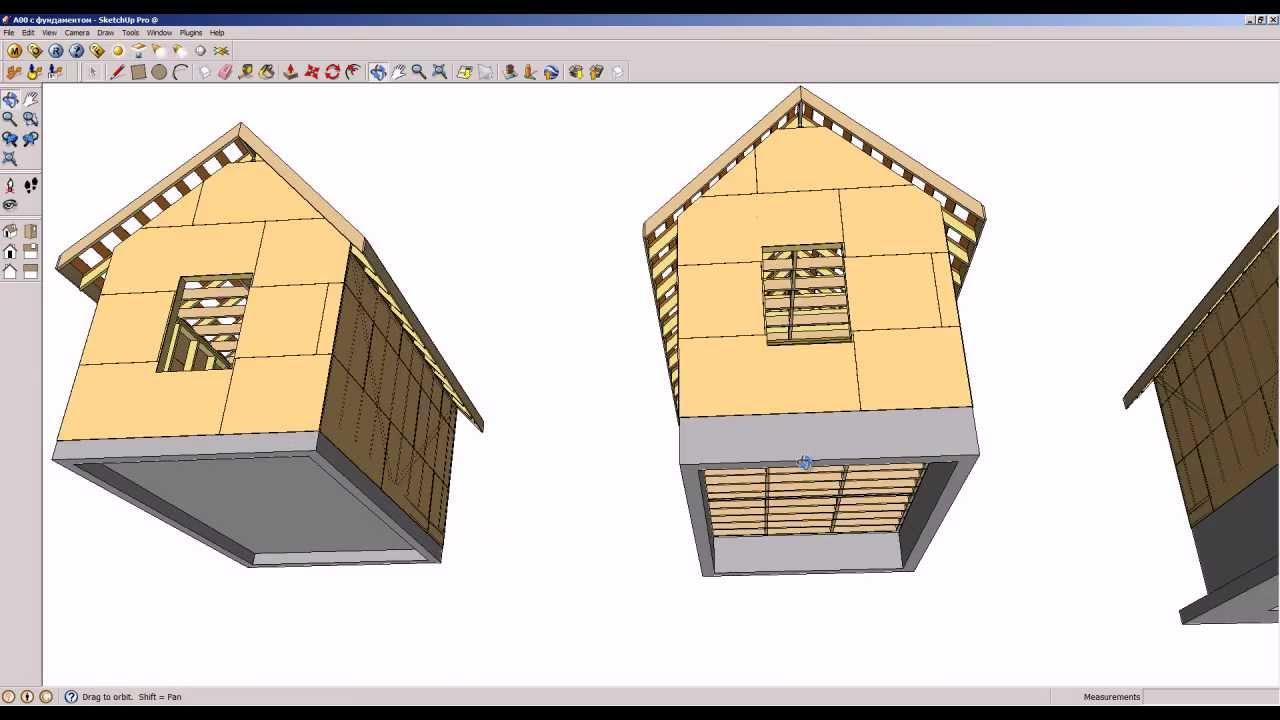 схема фундамента для загородного дома плитный