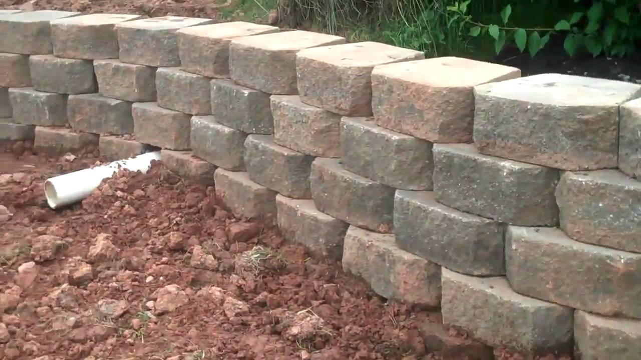 Drainage Pipe through Retaining Walls by C.O.L. - YouTube