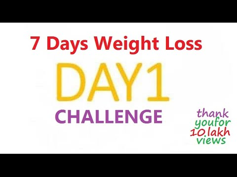 7 Days Weight Loss Challenge - Loose Your Weight in Just 1 Week (Step-by-Step Tutorial )