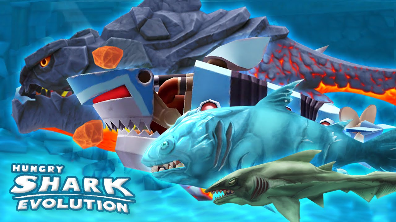ALL SPECIAL SHARKS, GAMEPLAY MONTAGE Hungry Shark Evolution | HD - YouTube