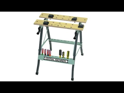 US General Folding Clamping Workbench Unbox And Full Assembly And Face Plate Mod/Fix