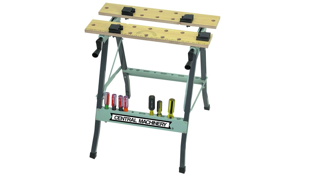 Us General Folding Clamping Workbench Unbox And Full