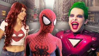 SPIDER-MAN vs IRON JOKER with Mary Jane - Real Life Superhero Movie