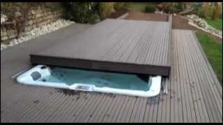 Custom Rolling Deck Option Available On Riptide Swim Spas By