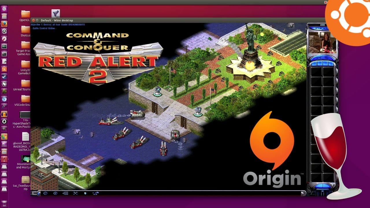 Red Alert 2 Origin Running On Ubuntu 15 10 Playonlinux Youtube