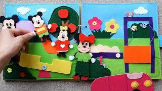 Minnie Mouse And Mickey Mouse Family Go To The Park  | Gia Đình Minnie Và Mickey Đi Công Viên