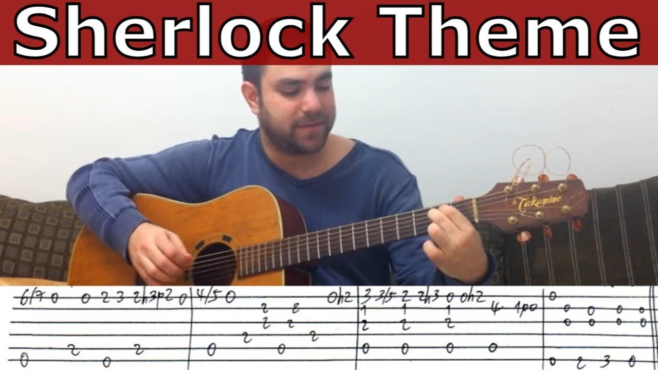 Fingerstyle Tutorial Sherlock Theme Bbc Guitar Lesson W Tab