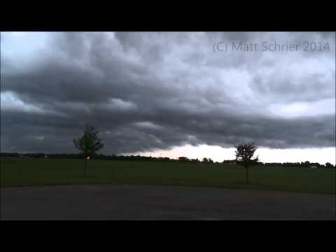 (HD!) Intense Storm Chase with Funnel Clouds in Pontiac, Illinois - June 30, 2014