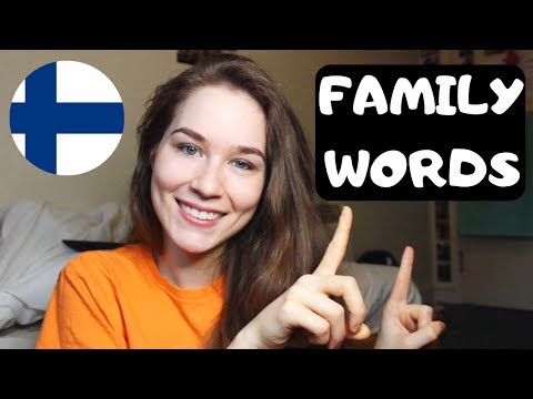 Family Words In Finnish   KatChats