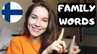 Family Words in Finnish | KatChats