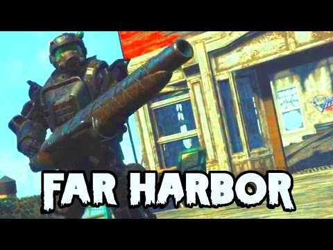 FALLOUT 4 Far Harbor DLC - Marine Combat Armor (BEST ARMOR IN THE GAME!!!) & New Gun!