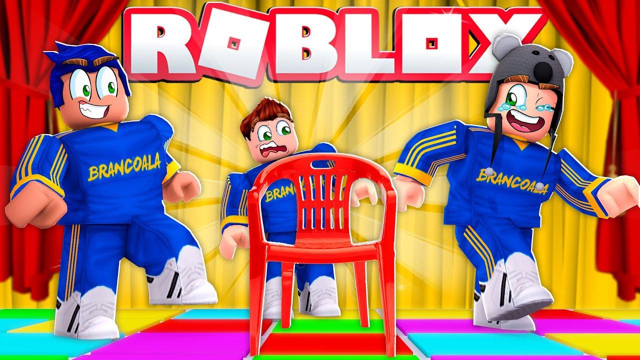 DANÇA DA CADEIRA NO ROBLOX MUSICAL CHAIRS - Brancoala Games