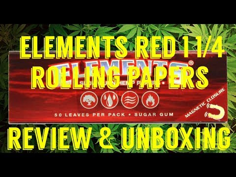 FULL MELT FUSION'S – ELEMENTS RED 1 1/4 HEMP ROLLING PAPER REVIEW & UNBOXING #RawLife #RawLife