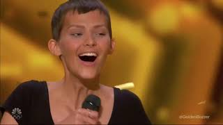 WOMAN WITH CANCER WINS SIMON COWELLS GOLDEN BUZZER EMOTIONAL AUDITION MAKES SIMON CRY
