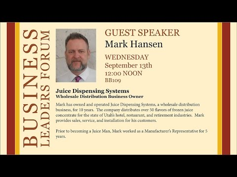 2016 Spring Business Lecture - Mark Hansen