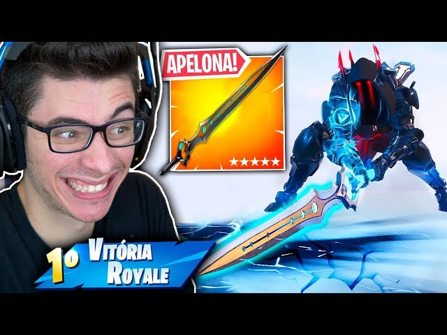 ACHEI A ESPADA DO INFINITO E VIREI O DEUS SUPREMO!! Fortnite: Battle Royale