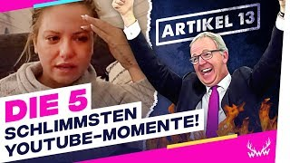 Die 5 SCHLIMMSTEN YouTube-Momente! | TOP 5